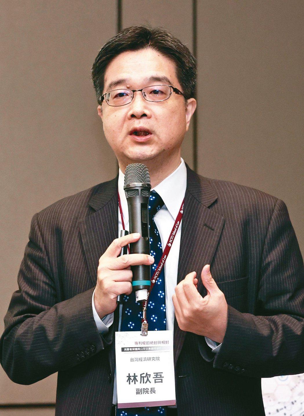 台灣經濟研究院副院長林欣吾。記者林俊良/攝影
