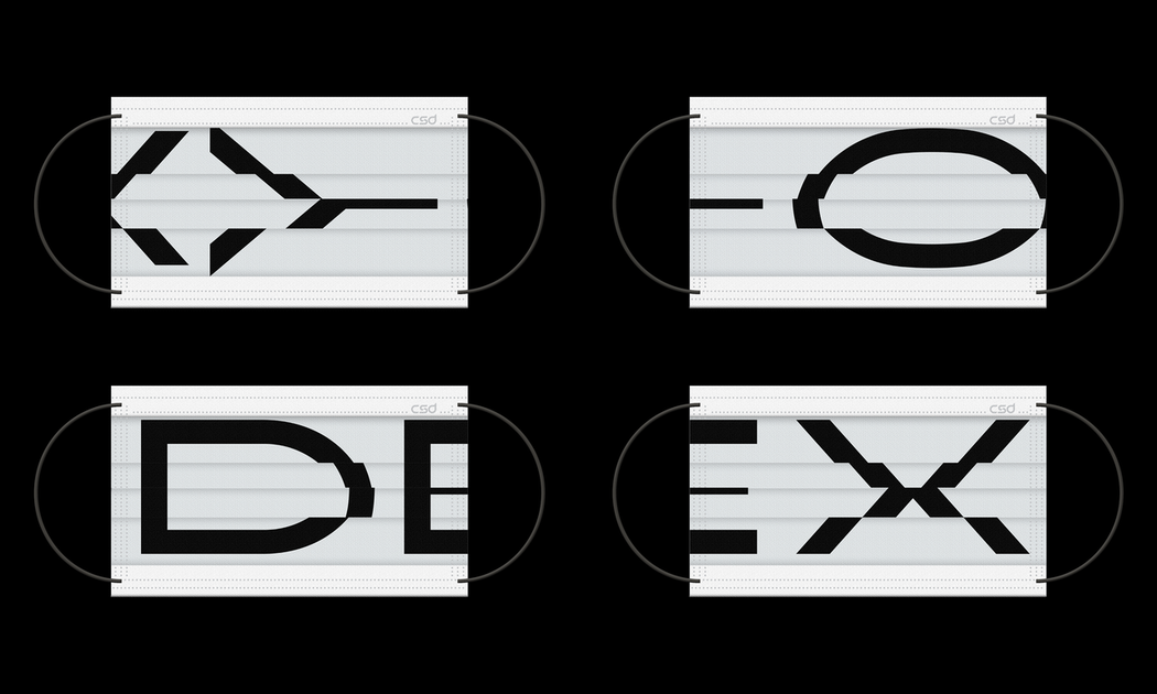CSD中衛及新一代設計展聯名限量時尚口罩,由聶永真以展覽全新Logo識別獨家設計...
