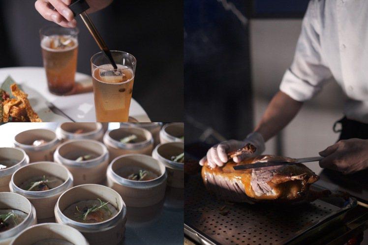 ROOM by Le Kief與大三元酒樓,合作推出7道餐酒搭配的饗宴。圖/RO...