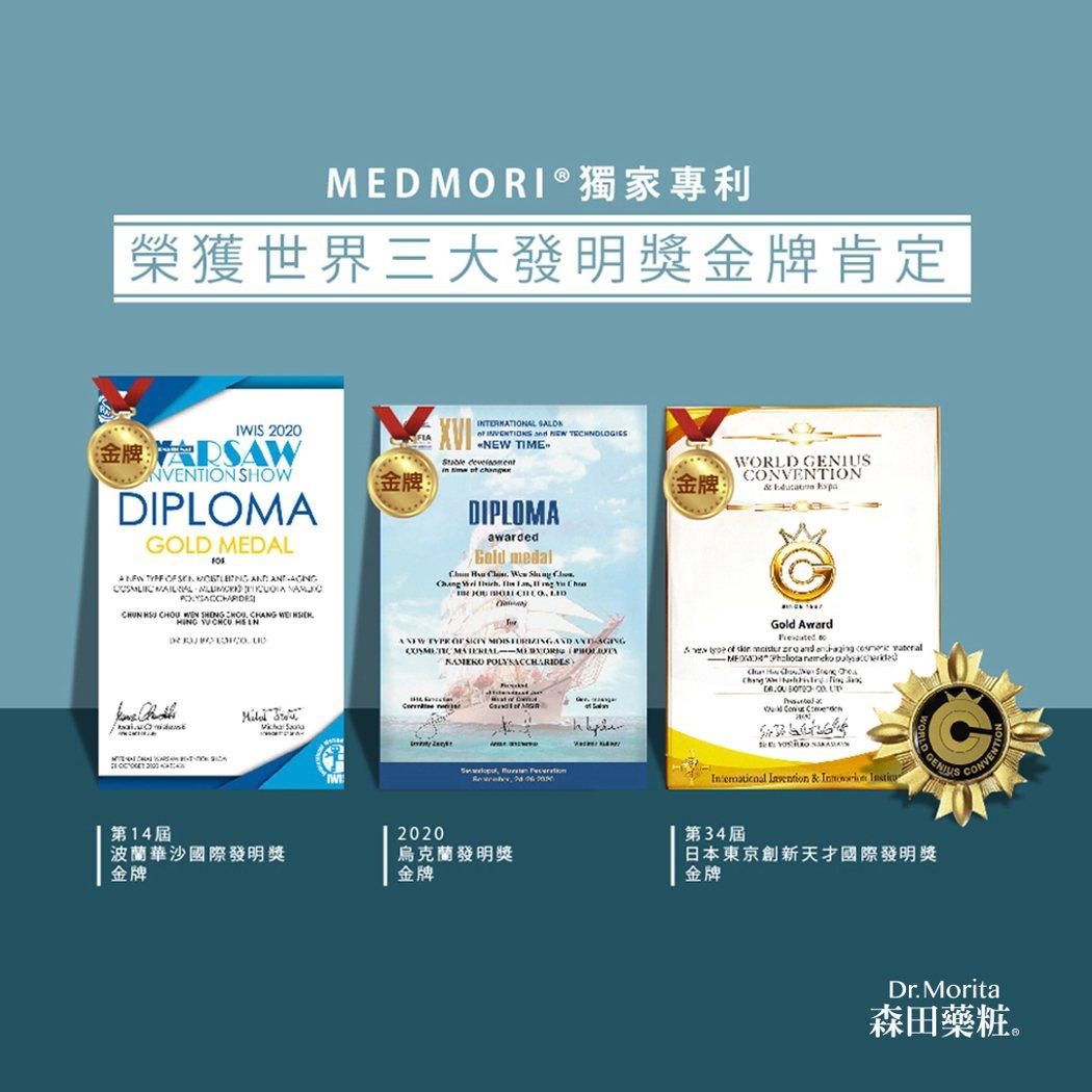 面膜專家森田藥粧,國際上屢獲各獎項與好評。 森田藥粧/提供