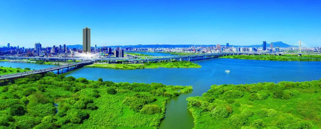 「僑蓮雄鋒」快速經由華江橋直達台北市,在通勤動線上也是一大優勢。 業者/提供
