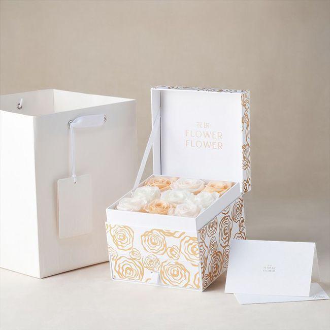Mellow Coral 哥倫比亞永恆玫瑰花珠寶禮盒。 圖/Talter Tai...