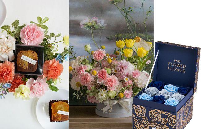 2021母親節花藝推薦。(由左至右)CNFlower、honeyDANIELS ...