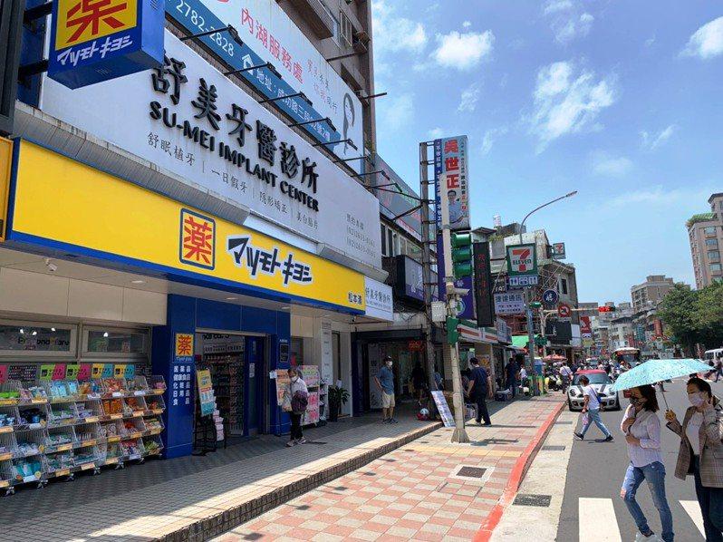 東湖松本清店面,以1.37億成為北市今年總價最高樓店。圖/台灣房屋東湖特許加盟店提供
