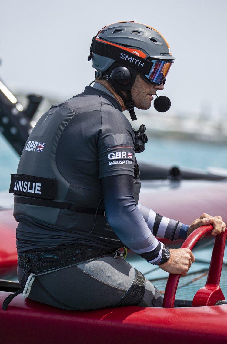勞力士代言人Ben Ainslie爵士將率領英國隊出征國際帆船大獎賽第二賽季。圖...