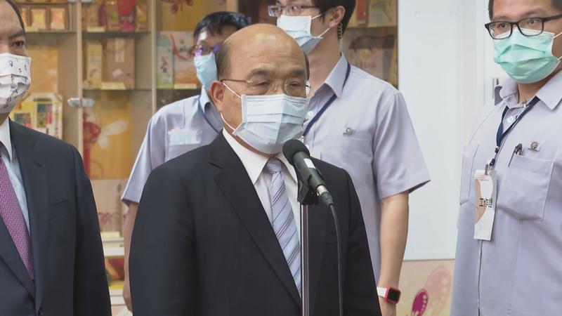 對於法國參議院通過挺台議案,行政院長蘇貞昌今天(7日)表示,希望讓台灣對世界做出貢獻。記者莊昭文/攝影