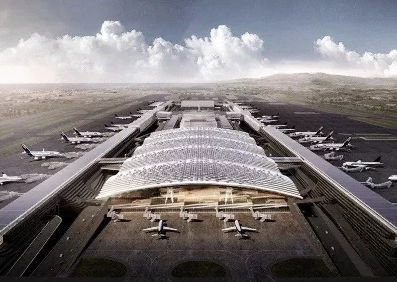 桃機第三航廈示意圖。圖/桃機提供