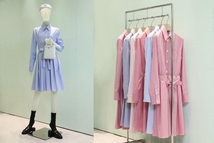 PRADA特別為了微風之夜,打造全球獨家限量系列洋裝,讓貴客眼睛為之一亮。圖/P...