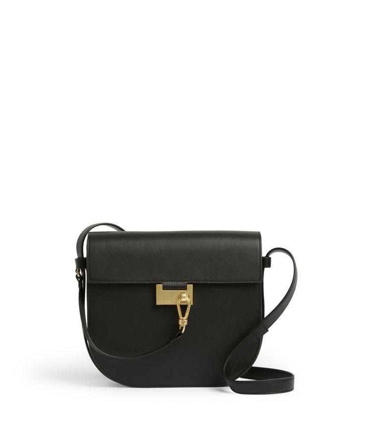 AllSaints微風之夜獨家款Nicolette黑色皮革斜背包13,500元。...