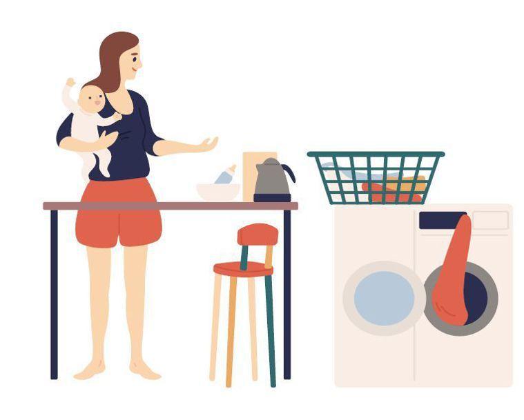 全職媽媽常被誤會「不用上班很輕鬆」。圖/123RF