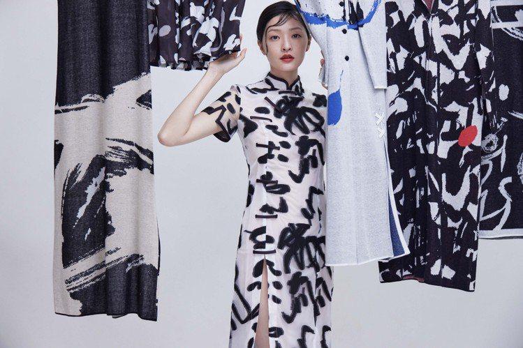 詹朴與團隊運用不同類型的織品與布料開發,呈現讀衣系列中的「湍流」。圖 / 團團創...
