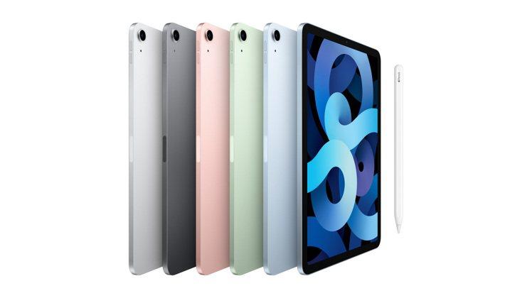 iPad Air擁有銀色、太空灰色、玫瑰金色、綠色及天藍色供選擇,Wi-Fi機型...
