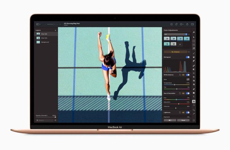 全新M1版MacBook Air,售價30,900元起。圖/蘋果提供