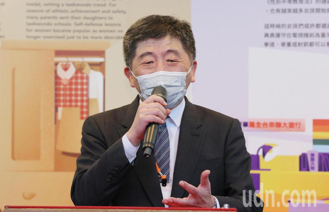 衛福部長陳時中(圖)陪同蔡英文總統參訪「台灣國家婦女館」,他說自己年輕時,太太是...