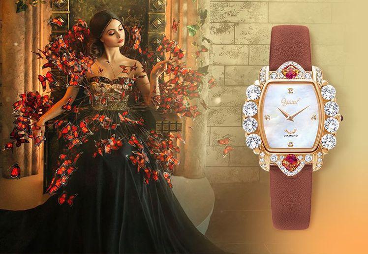 靈感源自法國的「禮獻凡爾賽」腕表,還原中世紀法國的古典浪漫。圖 / 愛其華提供。