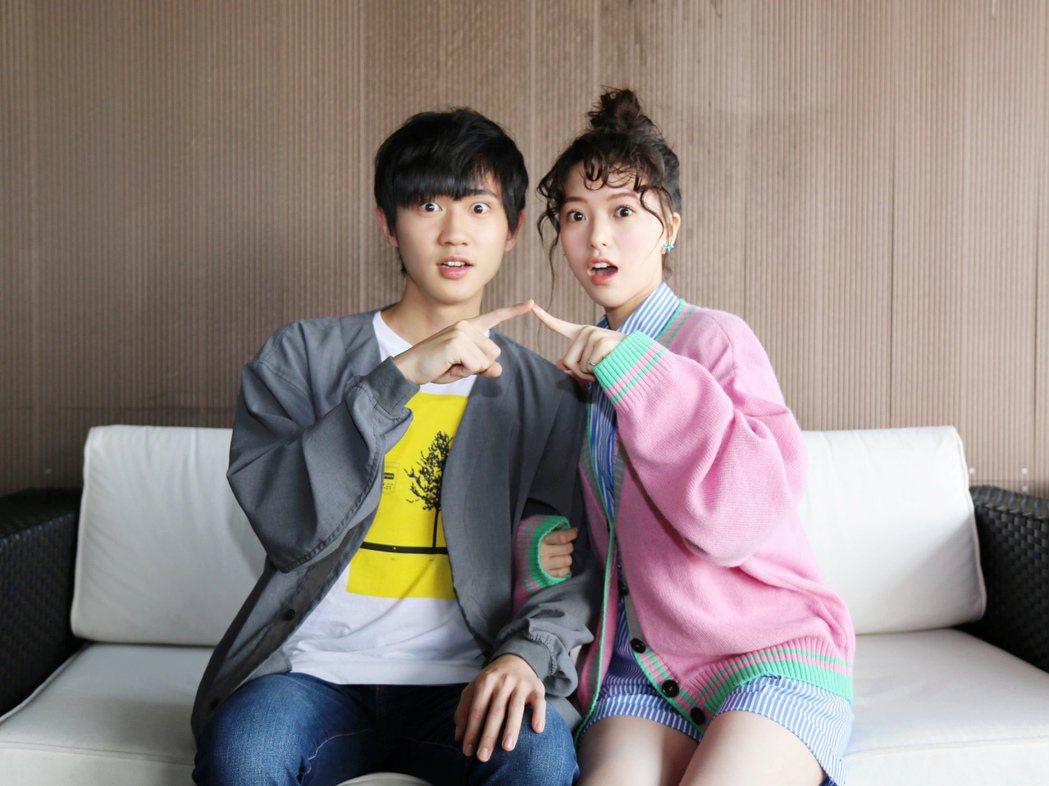 項婕如(右)和姜典合作。圖/LINE TV提供