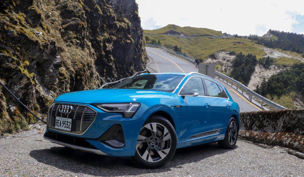 Audi e-tron 55 quattro。 記者黃俐嘉/攝影