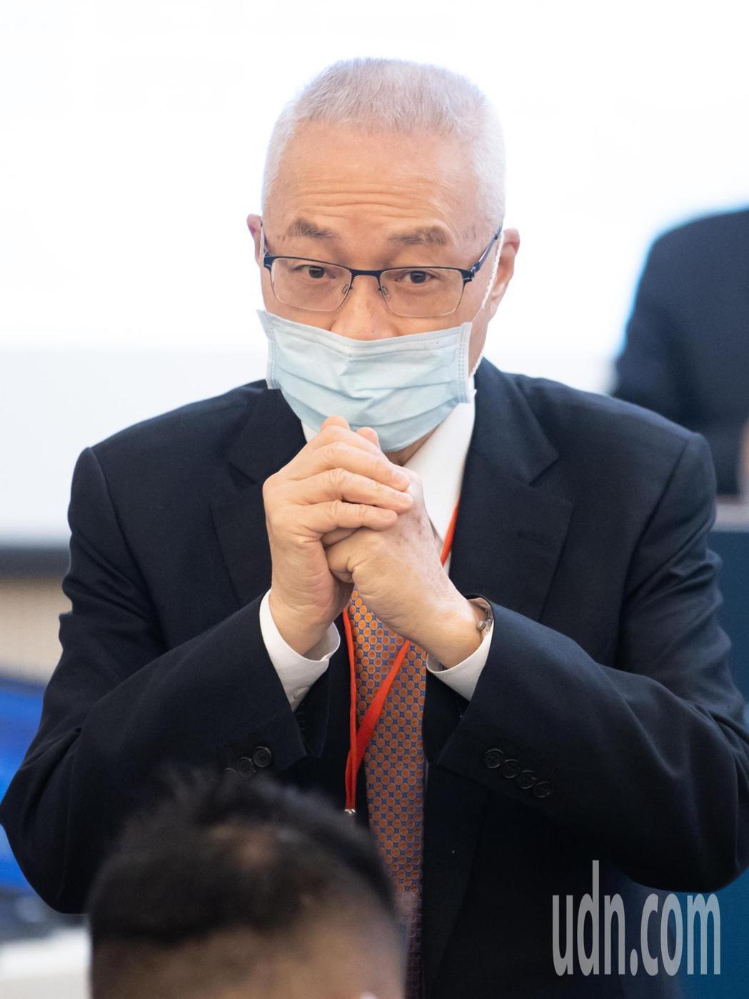 前副總統吳敦義今天上午出席「兩岸重開機、疫後新契機」研討會。記者季相儒/攝影