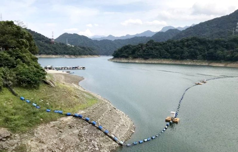 石門水庫蓄水持續探底降到1 8%。圖/北區水資源局提供