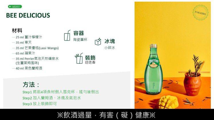 沛綠雅的生薑萊姆風味氣泡水,具有優雅香氣與豐沛氣泡,也是市面少見新口味。圖 / ...