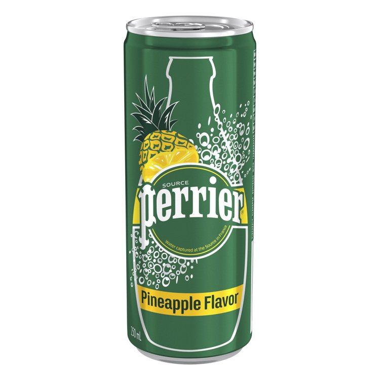 沛綠雅鳳梨風味氣泡礦泉水,250ml、鋁罐裝,45元。圖 / 沛綠雅提供。