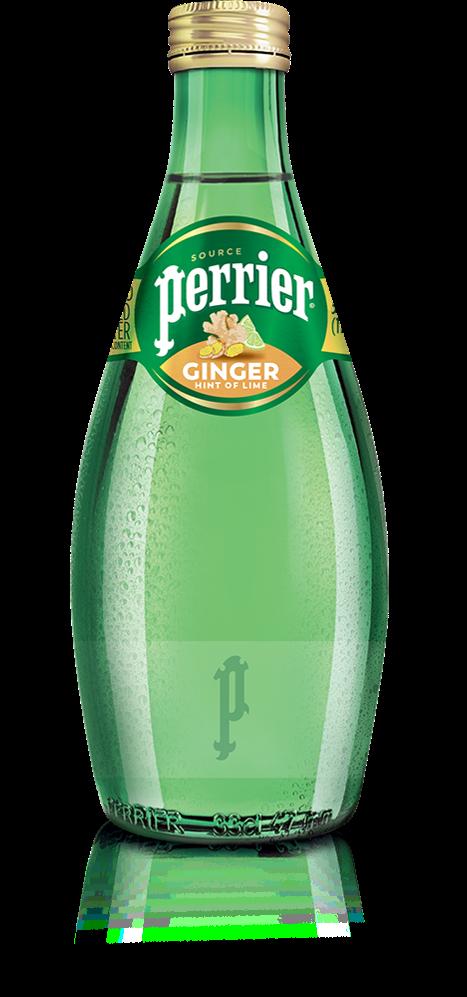 沛綠雅,生薑萊姆風味氣泡礦泉水,330ml、玻璃瓶裝,58元。圖 / 沛綠雅提...