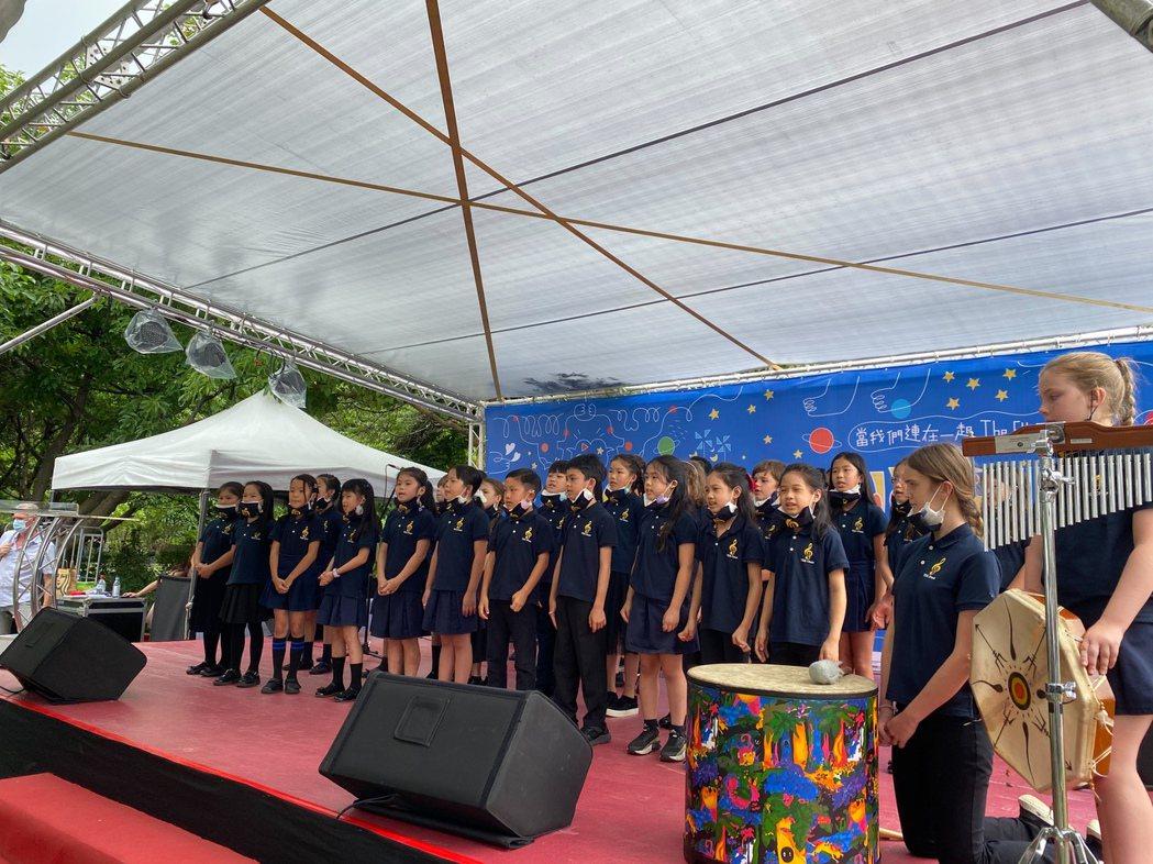 台北歐洲學校兒童合唱團表演。記者徐偉真/攝影