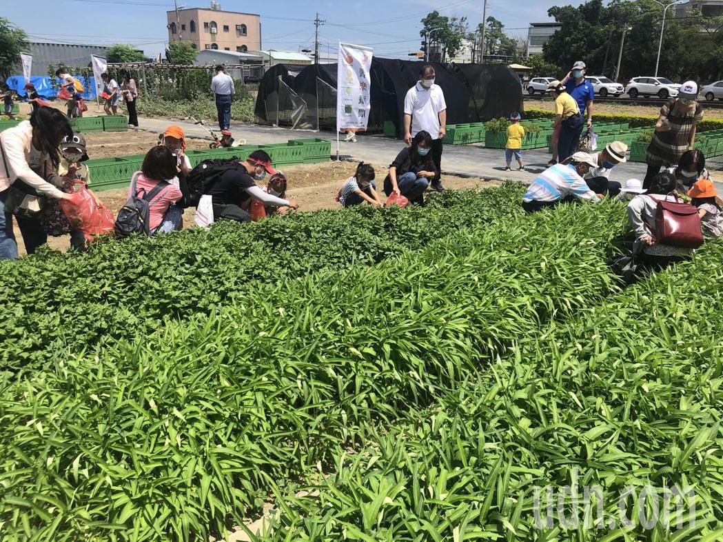 饗樂纖農生技辦回收農業廢棄物體驗活動,推廣環境永續行銷小農產品。記者周宗禎/攝影