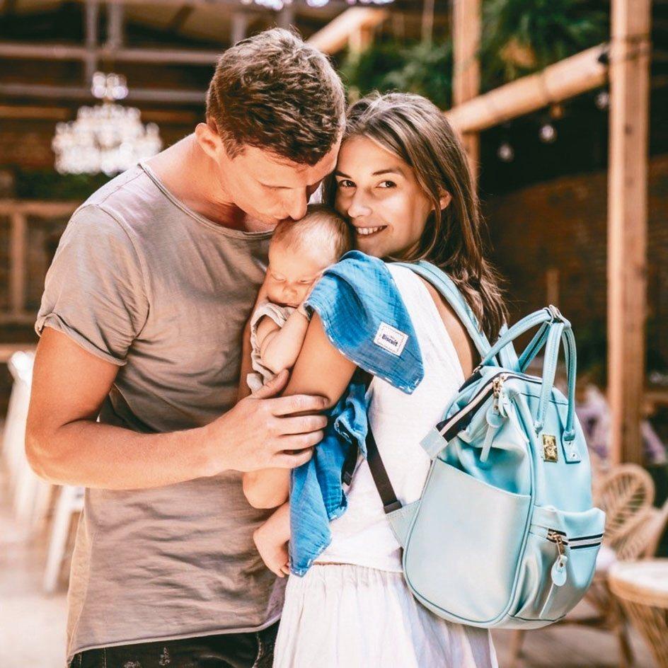逗寶波蘭專業嬰幼兒品牌La Millou媽媽包。逗寶/提供