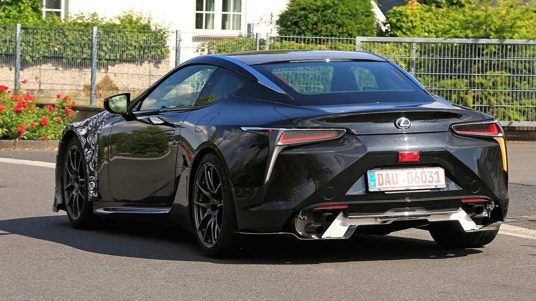 Lexus LC F測試車。 摘自autoexpress