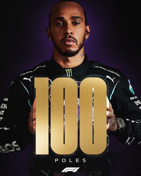 賓士車王漢米爾頓在西班牙站的排位賽衝出最短秒數,搶下竿位,這也是生涯第100度奪竿位。(photo from F1官方臉書)