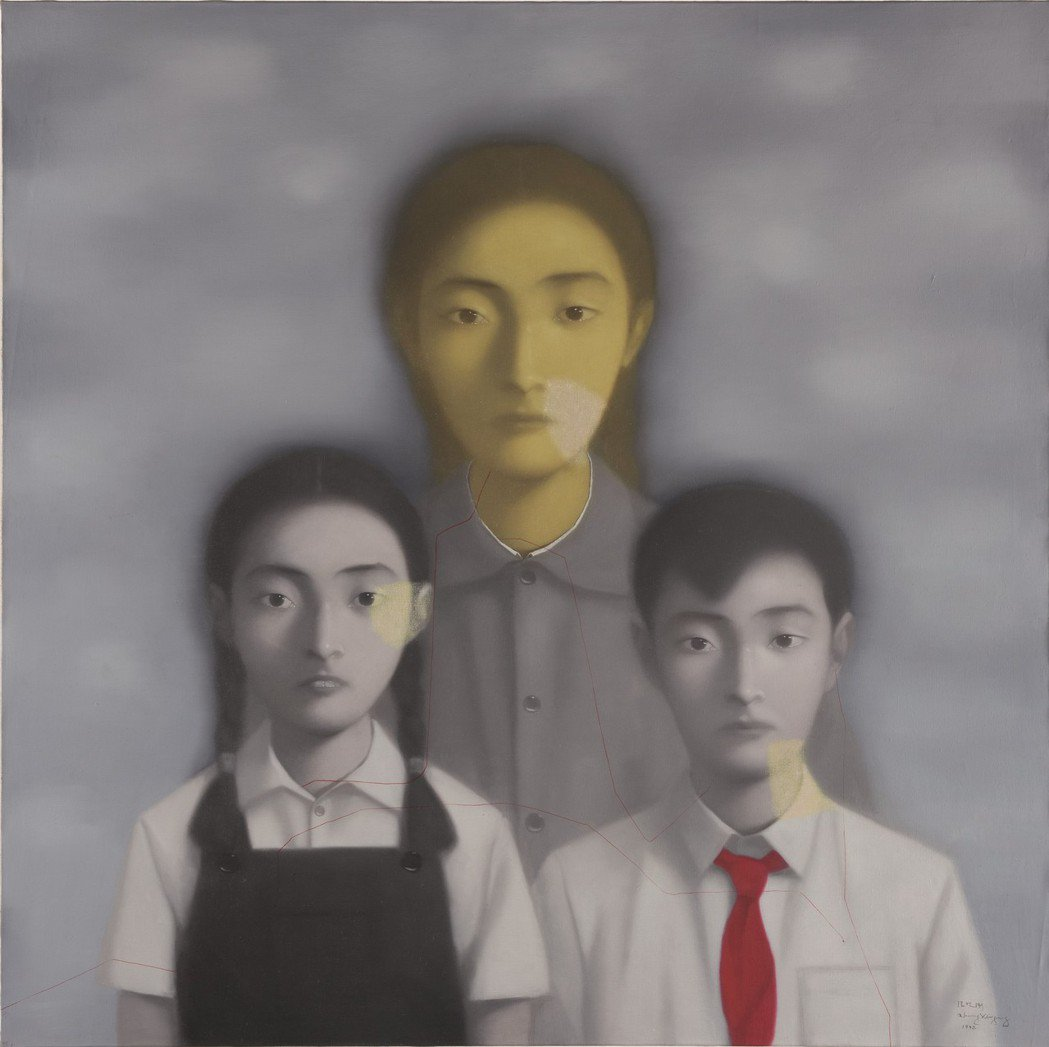 張曉剛「全家福 13 號」,1998年作,152x152公分,估價750萬港元起...