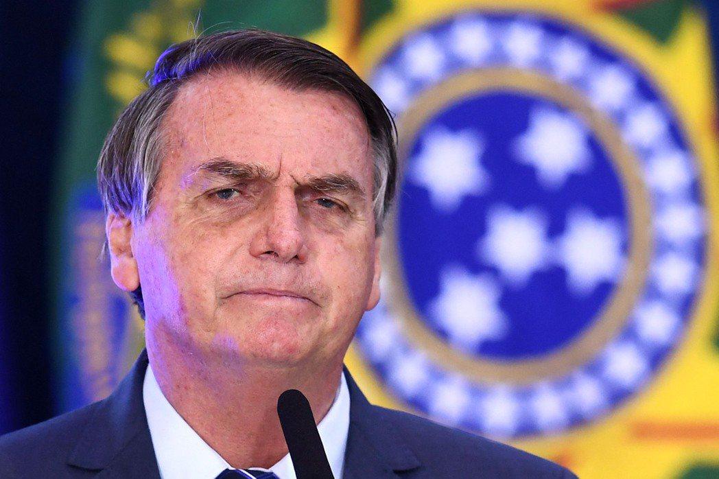 巴西總統波索納洛。(法新社)