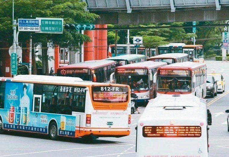 北市公車示意圖。本報資料照片