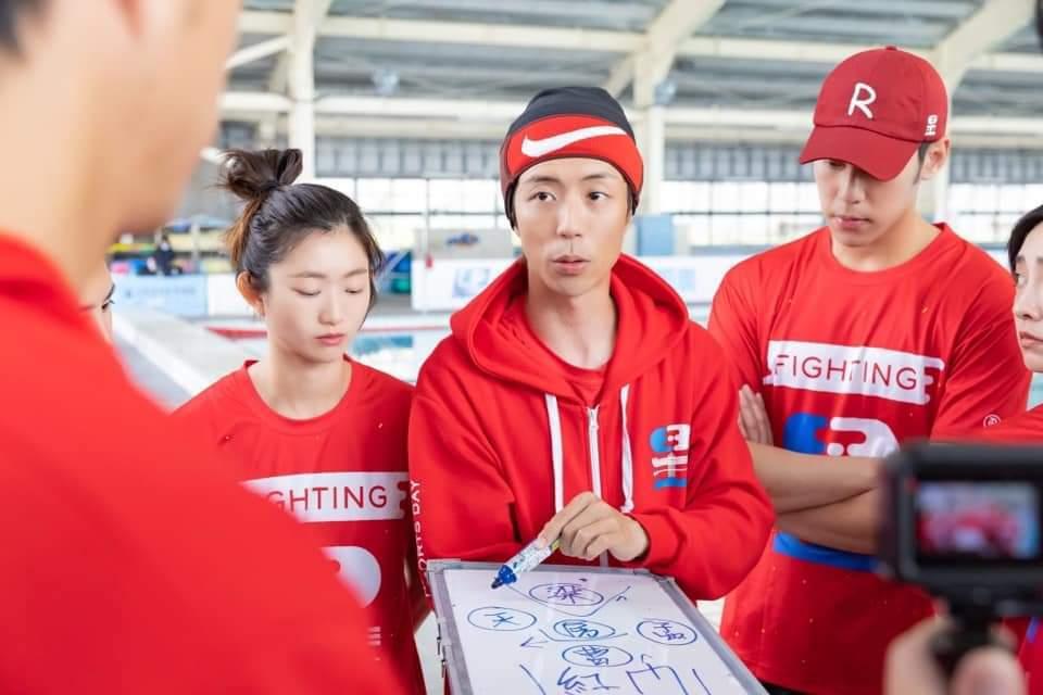 廖允杰擔任紅隊隊長十分盡責。圖/摘自臉書