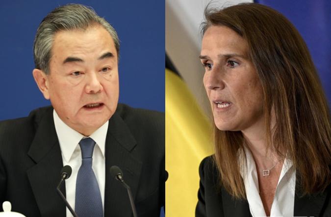 王毅與比利時副首相通電 涉疆涉港問題不容外來干涉