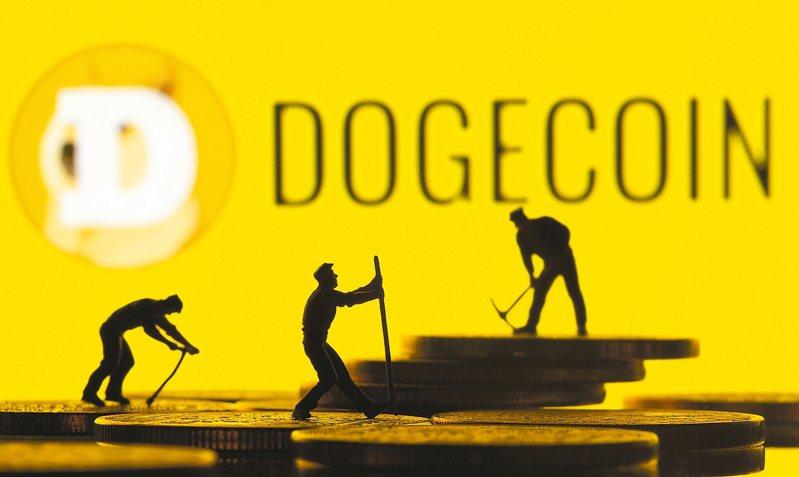 狗狗幣在24小時內大跌逾35%,原因可能是特斯拉執行長馬斯克認為價格衝太快。(路透)