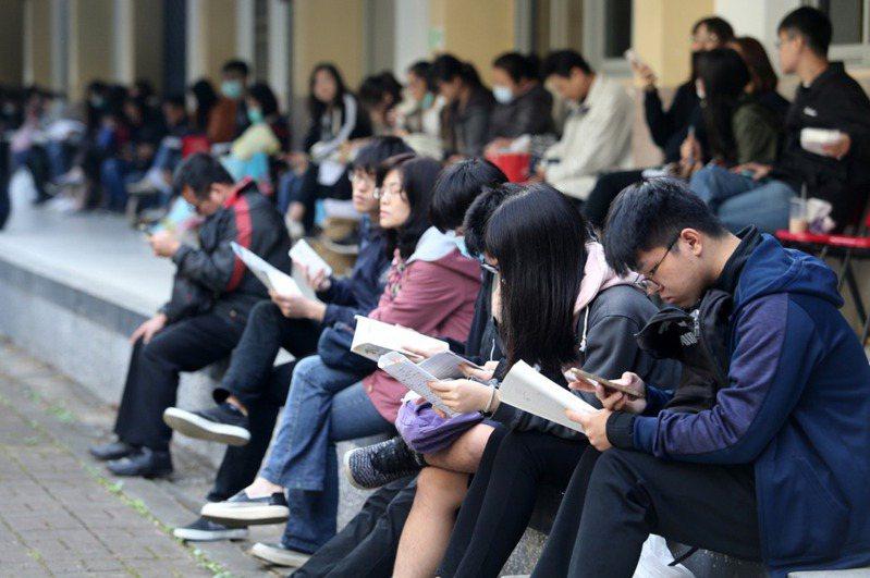 大學個人申請於近日放榜。圖為學測情形。本報資料照片