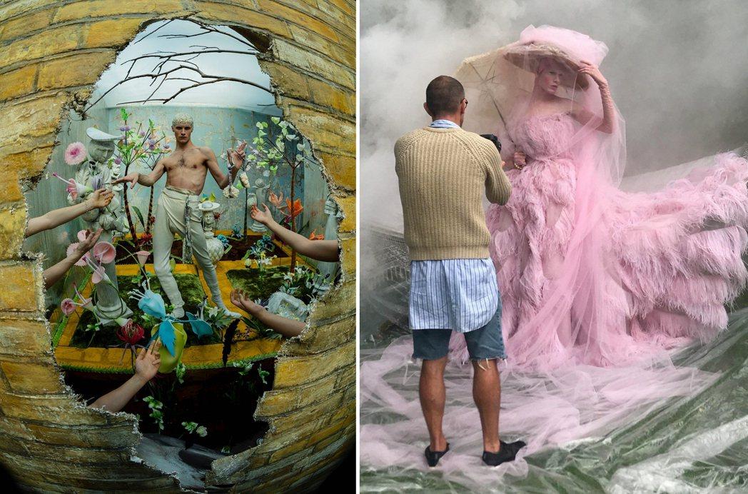 蒂姆.沃克「寶盒」系列作品(左);蒂姆.沃克拍攝詹姆士.克魯(右)。 圖/Tim...