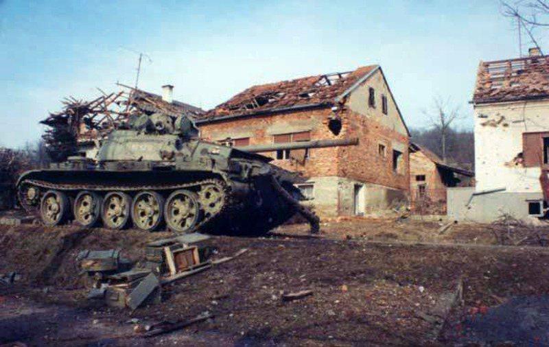 克羅埃西亞獨立戰爭中,克羅埃西亞軍的戰車。 圖/維基共享
