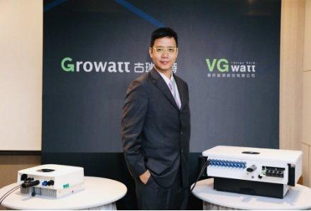 晉好能源總經理游國周,將GROWATT太陽能變流器在台灣的銷推向高峰。 翁永全/...