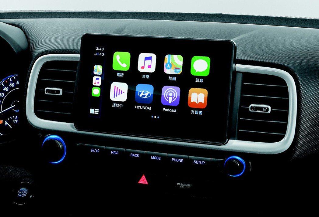 Venue擁有8吋觸控多媒體系統,支援Carplay & Android Aut...