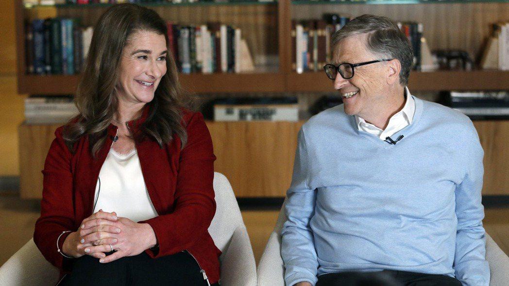 微軟創辦人蓋茲與妻子梅琳達上周宣布離婚。美聯社