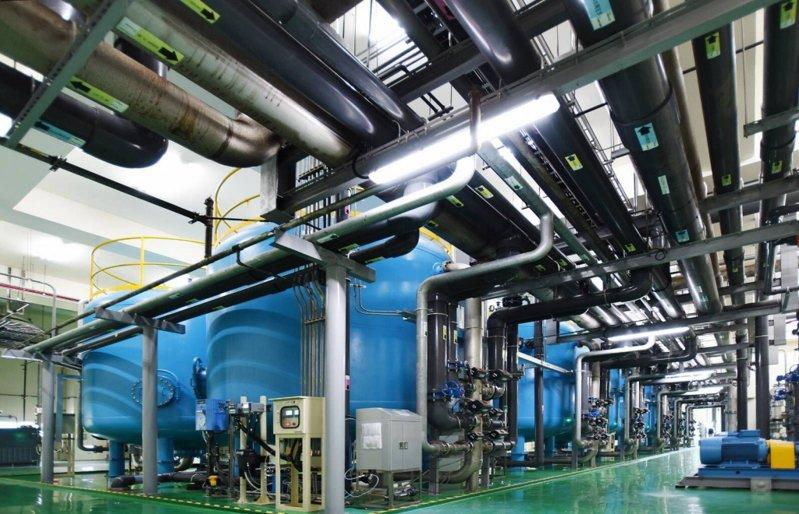 設在日月光高雄廠區的中水回收廠。圖/日月光高雄廠提供