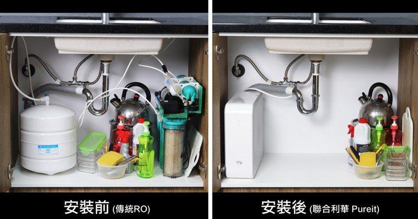 聯合利華Pureit RO淨水器將傳統RO淨水器的管線與繁瑣零件整合在一台輕薄主...