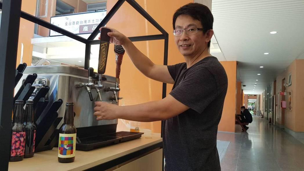 釀酒師黃俊能是國內啤酒釀造專家,也是美國BJCP啤酒評審、國內「自由人釀造」的共...