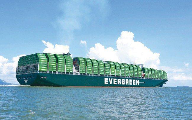 長榮貨櫃船。報系資料照
