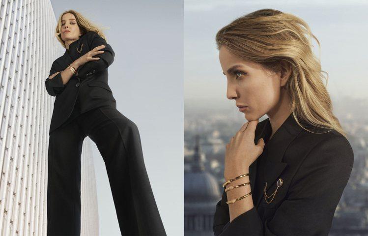 英國女星安娜貝華里斯(Annabelle Wallis)演繹卡地亞美洲豹系列珠寶...
