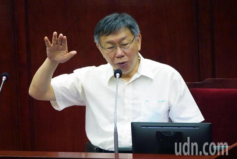 台北市長柯文哲。記者胡經周/攝影