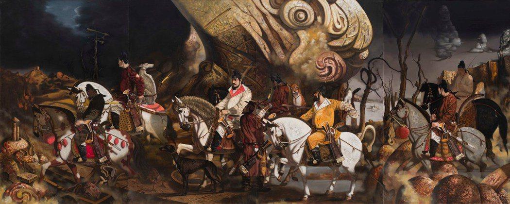 徐松波的大畫《夢裡鄉關》,訂價2,700萬元。  台北新藝術博覽會/提供